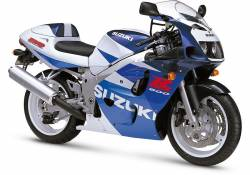 Suzuki GSX-R 600 1998 SRAD blue decals kit