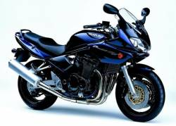 Suzuki 1200S 2002 dark blue stickers set