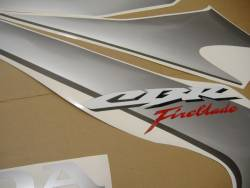 Honda 1000RR 2006 SC57 silver decal set