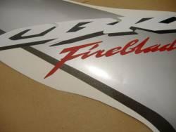 Honda 1000RR 2006 Fireblade silver logo graphics