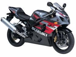 Suzuki GSXR 750 2004 black labels graphics