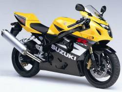 Suzuki GSX-R 750 2004 yellow adhesives set