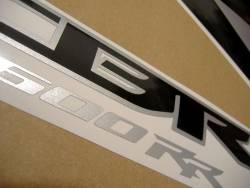 Honda CBR 600RR 2009 black stickers kit