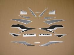 Honda CBR 600RR 2009 black reproduction stickers
