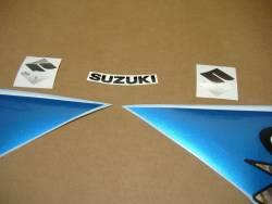 Suzuki GSX-R 600 2008 white decals kit