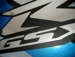 Suzuki gsxr 600 2008 k8 white complete graphics kit