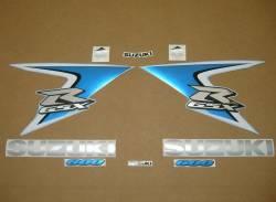 Suzuki GSXR 600 K8 white stickers set