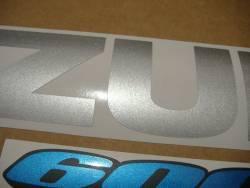 Suzuki GSX-R 600 2008 white stickers set