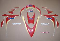 Honda 1000RR Fireblade 2011 HRC replacement decals set
