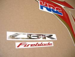 Honda 1000RR Fireblade 2011 HRC reproduction graphics set