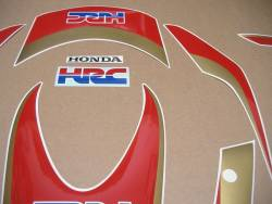 Decals for Honda 1000RR Fireblade 2011 HRC white model