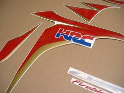 Honda 1000RR Fireblade 2011 HRC reproduction decals set
