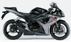 Suzuki GSXR 600 K6 black full decals kit