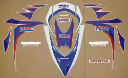 Honda 1000RR 2010 SC59 HRC reproduction stickers