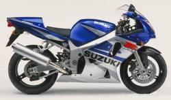 Suzuki GSX-R 600 2002 blue decals kit