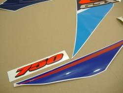 Suzuki GSX-R 750 2007 white adhesives set