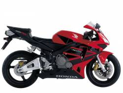 Honda CBR 600RR 2003 red stickers kit