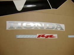 Honda CBR 600RR 2003 red adhesives set
