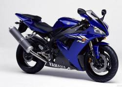 Yamaha R1 2003 RN09 red labels graphics