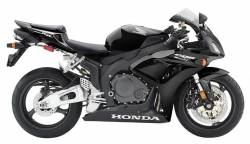 Honda 1000RR 2006 SC57 black stickers set