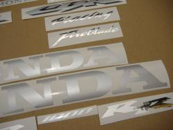 Honda 1000RR 2006 black complete sticker kit