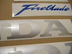 Honda 1000RR 2007 Fireblade silver logo graphics