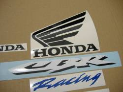 Honda CBR 1000RR 2007 silver stickers kit