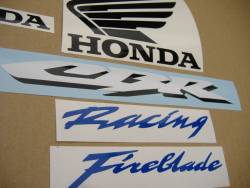 Honda 1000RR 2007 SC57 silver labels graphics