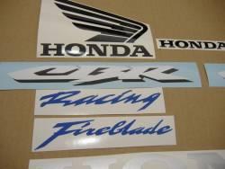 Honda CBR 1000RR 2007 Fireblade silver stickers