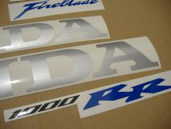 Honda 1000RR 2007 SC57 silver decal set