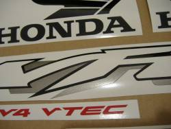 Honda VFR 800i 2002 RC46 silver adhesives set