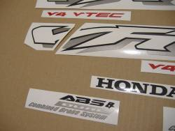 Honda 800i 2002 RC46 silver stickers set