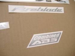 Honda 1000RR 2009 ABS SC59 black stickers set
