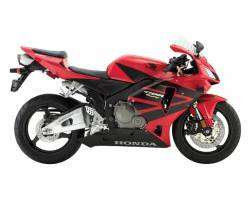 Honda CBR 600RR 2005 red reproduction stickers
