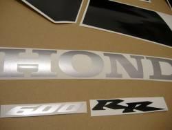 Honda 600RR 2005 red full decals kit