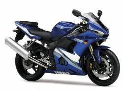Yamaha R6 2005 5SL blue adhesives set