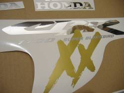 Honda 1100XX 2001 Blackbird red stickers kit
