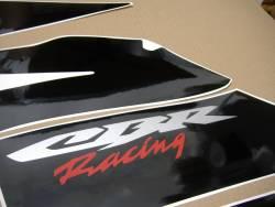 Honda 600RR 2005 silver complete sticker kit