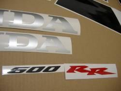 Honda 600RR 2005 silver decals
