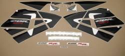 Honda CBR 600RR 2005 silver stickers