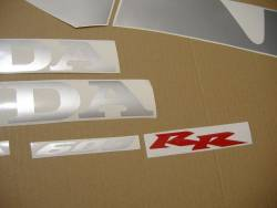 Honda CBR 600RR 2004 black adhesives set
