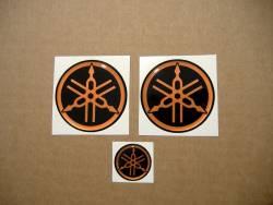 Yamaha 3D tank gel orange emblems logo decals (r1 r6 r125)