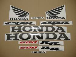 Honda CBR 600RR 2003 yellow adhesives set