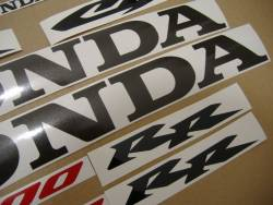 Honda CBR 600RR 2003 yellow stickers kit