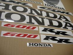 Honda 600RR 2003 yellow complete sticker kit