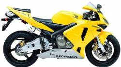 Honda CBR 600RR 2003 yellow stickers