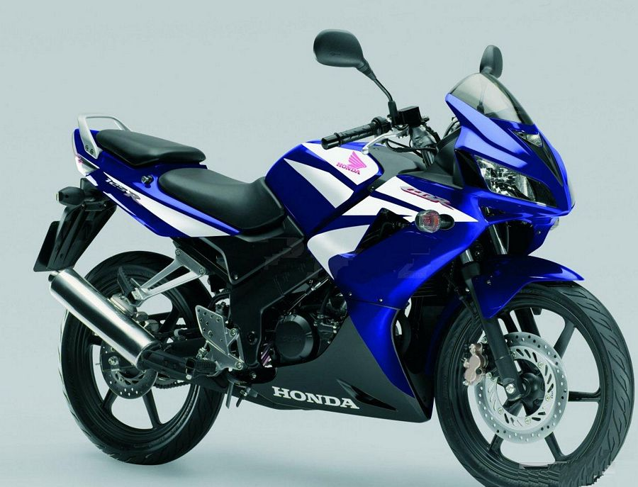 honda cbr 125r 2007 2008 2009 decals set full kit blue version moto. Black Bedroom Furniture Sets. Home Design Ideas