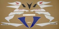 Honda 125R 2007 blue full decals kit