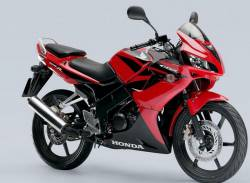 Honda CBR 125R 2008 red decals kit