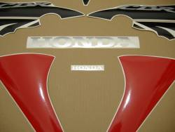 Honda 125R 2008 red logo graphics